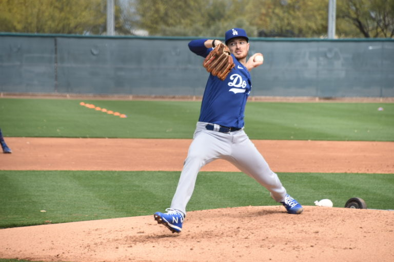 Dodgers Pitching Prospect Finds Way to Work Mechanics and Fight Boredom